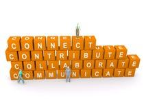 Conecte, contribuya, colabore, comunique Foto de archivo