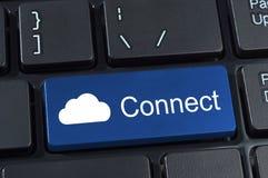 Conecte el botón del teclado de ordenador. Imagen de archivo libre de regalías