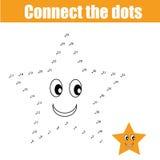 Conecte el juego de los niños de los puntos Imagen de archivo