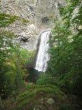 Conecte en cascada du Ray Pic (Ardeche) - cascada Fotografía de archivo
