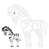 Conecte a ilustração do vetor da zebra do jogo dos pontos Imagens de Stock
