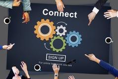 Conecte a interação Team Teamwork Concept foto de stock