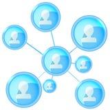 Conecte a la gente, círculo social de la red Vector Fotos de archivo libres de regalías