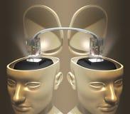 Conecte la mente Foto de archivo libre de regalías