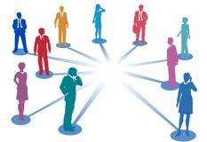 Conecte a los hombres de negocios de la conexión de red Fotografía de archivo