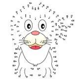 Conecte los puntos - león stock de ilustración