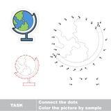 Conecte los puntos para los números y encuentre la tierra ocultada Imagenes de archivo