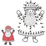 Conecte los puntos y dibuje a Santa Claus divertida libre illustration