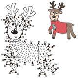 Conecte los puntos y dibuje un ciervo lindo Juego de n?meros para los ni?os ilustración del vector