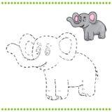 Conecte los puntos y la página del colorante Imágenes de archivo libres de regalías
