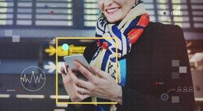 Conecte o conceito do estilo de vida do Internet da tecnologia de comunicação imagem de stock royalty free