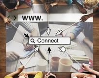 Conecte o conceito em linha da tecnologia UI do Web site da rede da relação Fotos de Stock Royalty Free