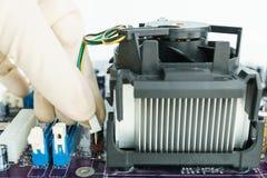 Conecte o conector do dissipador de calor a bordo Fotos de Stock