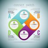 Conecte o interruptor 4 ilustração royalty free