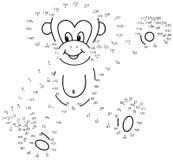 Conecte o jogo dos pontos: macaco Fotos de Stock