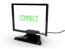 Conecte o monitor foto de stock royalty free