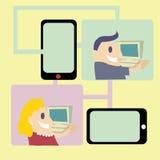 Conecte o mundo do social da compra Foto de Stock