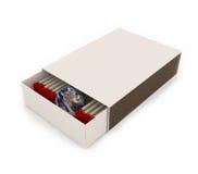 Conecte a tierra dentro de la caja de fósforos Fotos de archivo