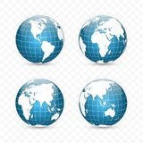 CONECTE A TIERRA EL GLOBO Sistema del mapa del mundo Planeta con los continentes Ilustración del vector ilustración del vector