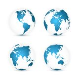 CONECTE A TIERRA EL GLOBO Sistema del mapa del mundo Planeta con los continentes Ilustración del vector stock de ilustración