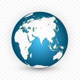 CONECTE A TIERRA EL GLOBO Sistema del mapa del mundo Planeta con los continentes Ilustración del vector libre illustration