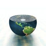 Conecte a tierra el hemisferio ilustración del vector