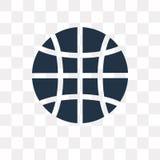 Conecte a tierra el icono del vector de la rejilla aislado en el fondo transparente, tierra ilustración del vector