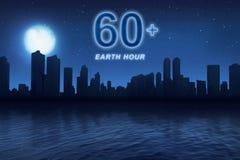 Conecte a tierra el mensaje de la hora para apagar el equipo eléctrico en el minuto 60 fotos de archivo