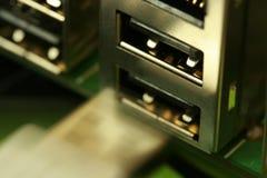 Conection d'USB Photos stock