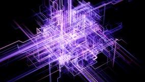 Conectividad de Digitaces, inteligencia artificial y concepto del almacenamiento de datos stock de ilustración