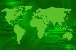 Conectividad internacional del Internet ilustración del vector
