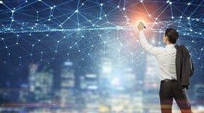 Conectividade e comunicação como chaves ao sucesso Meios mistos Foto de Stock