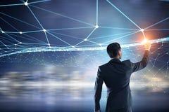 Conectividade e comunicação como chaves ao sucesso Meios mistos Fotografia de Stock