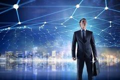 Conectividade e comunicação como chaves ao sucesso Meios mistos Fotografia de Stock Royalty Free