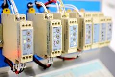 Conector, automatização de fábrica Fotografia de Stock Royalty Free