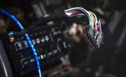 Conector com fios do controle do clima da unidade imagens de stock royalty free
