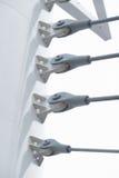 Conector de cable para el puente del acero de la construcción Fotografía de archivo