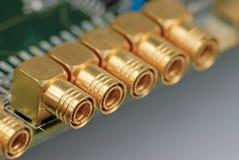 Conector de cabo coaxial Foto de Stock Royalty Free