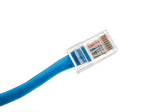 Conector de cabo do Ethernet imagem de stock