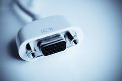 Conector de cabo do monitor do VGA Imagem de Stock