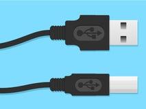 Conector de cabo do USB Fotos de Stock Royalty Free