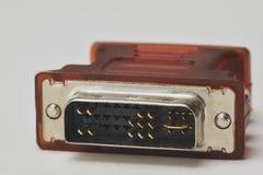 Conector de DVI Foto de archivo libre de regalías