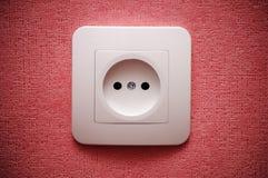 Conector de enchufe eléctrico (enchufe) en la pared Imagen de archivo libre de regalías