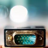 Conector de entrada de VGA Imagenes de archivo