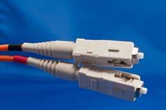 Conector de fibra óptica del SC fotografía de archivo libre de regalías