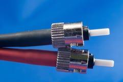 Conector de fibra óptica del ST fotos de archivo libres de regalías