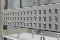 Conector de fibra óptica para la telecomunicación Fotos de archivo libres de regalías