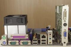 Conector de la placa madre del ordenador Imagen de archivo libre de regalías