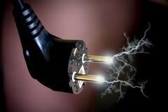 Conector de plugue elétrico Fotografia de Stock Royalty Free