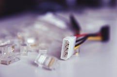 Conector de poder del accionamiento de disco fotografía de archivo
